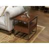 Rectangular Metal & Wood End Table