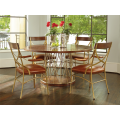 Andover Dining Table with Wood Top