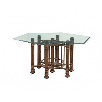 Makira Glass Top Dining Table