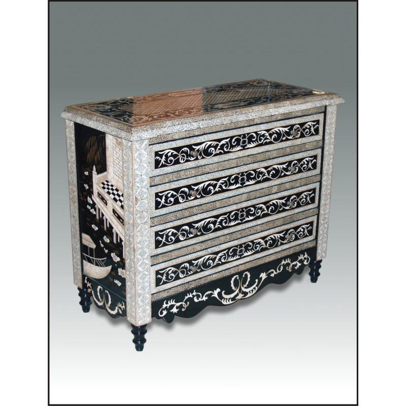 Eggshell Mosaic Chest Of Drawers   LuxFam | Luxury Furniture U0026 Accessories |