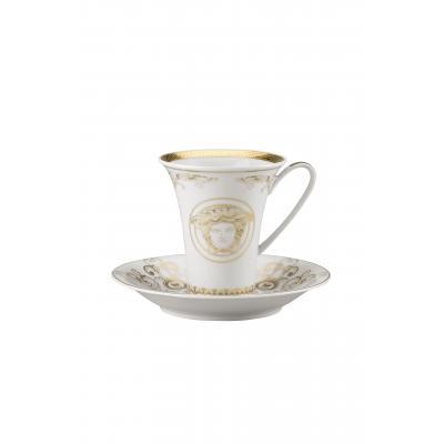 Versace Medusa Gala Gold Cup & saucer 4 tall