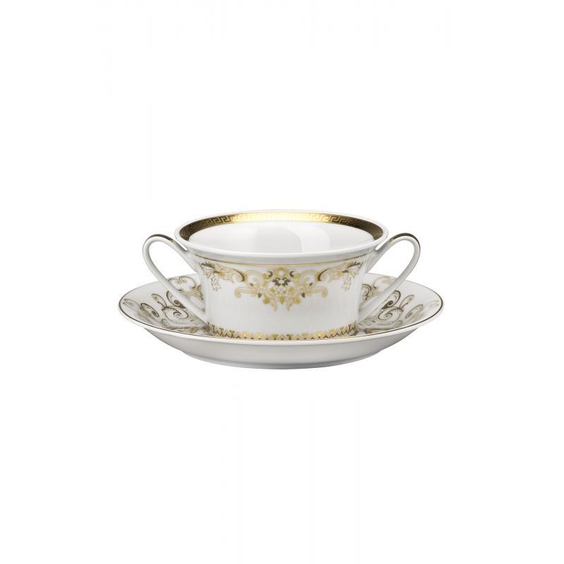 Versace Medusa Gala Gold Creamsoup cup & saucer