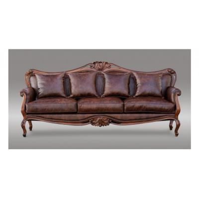 Leather 3 Seater Sofa - LuxFam | Luxury Furniture & Accessories |