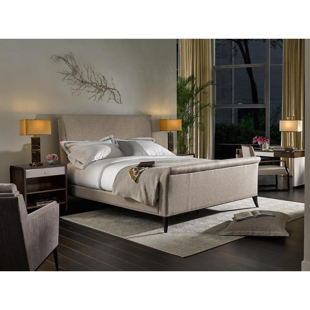 480eb354a84 VOLUTES KING UPHOLSTERED BED. Loading zoom