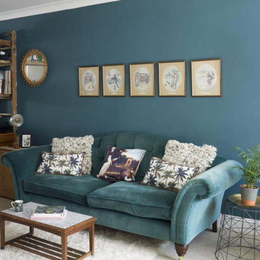Blue living room thoughts – from midnight to duck egg, see how modern blue can be