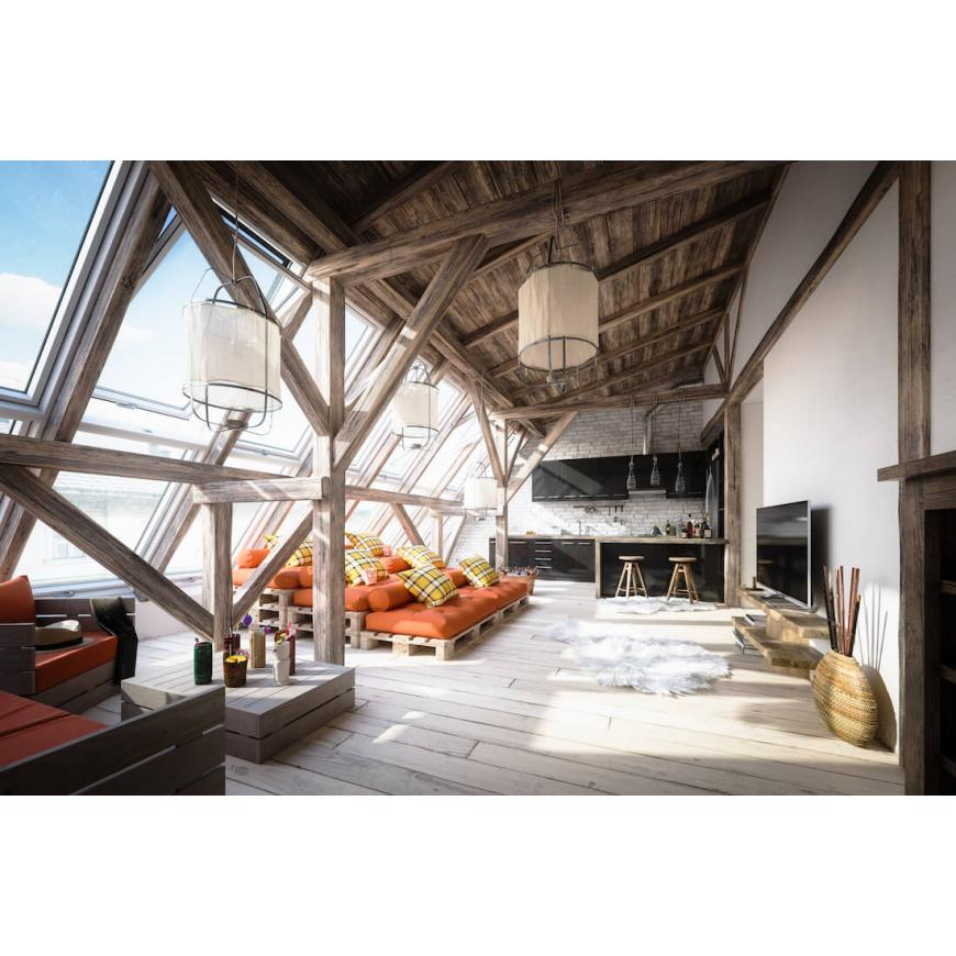 4 Great ideas for a rustic converted attic space