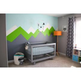 DIY Nursery Mountain Wall paintings