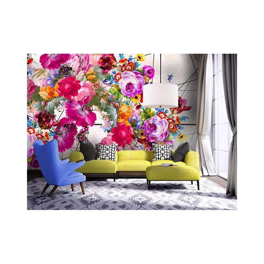 New ways of using floral wallpaper