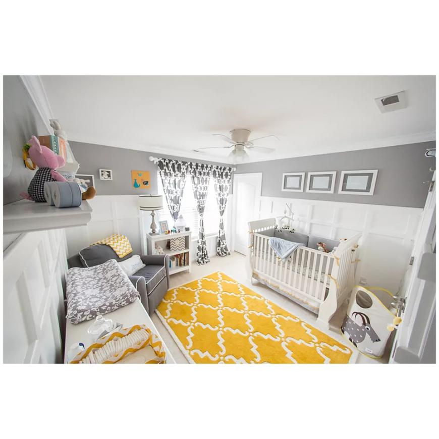 Lovely Nurseries Gray and Yellow